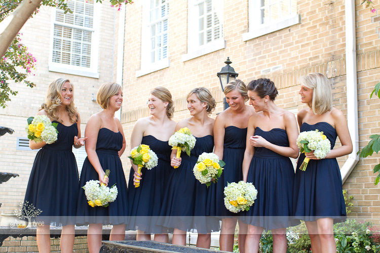 Navy blush gold wedding zac bethany for Navy blue dresses for weddings